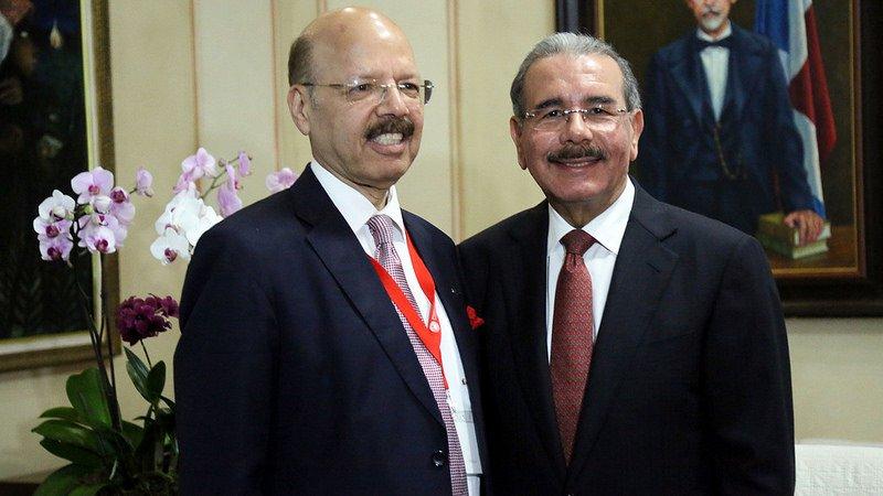 Dr. Nasim Zaidi ,CEC and Mr. Danilo Medina, Pesident Dominican Republic