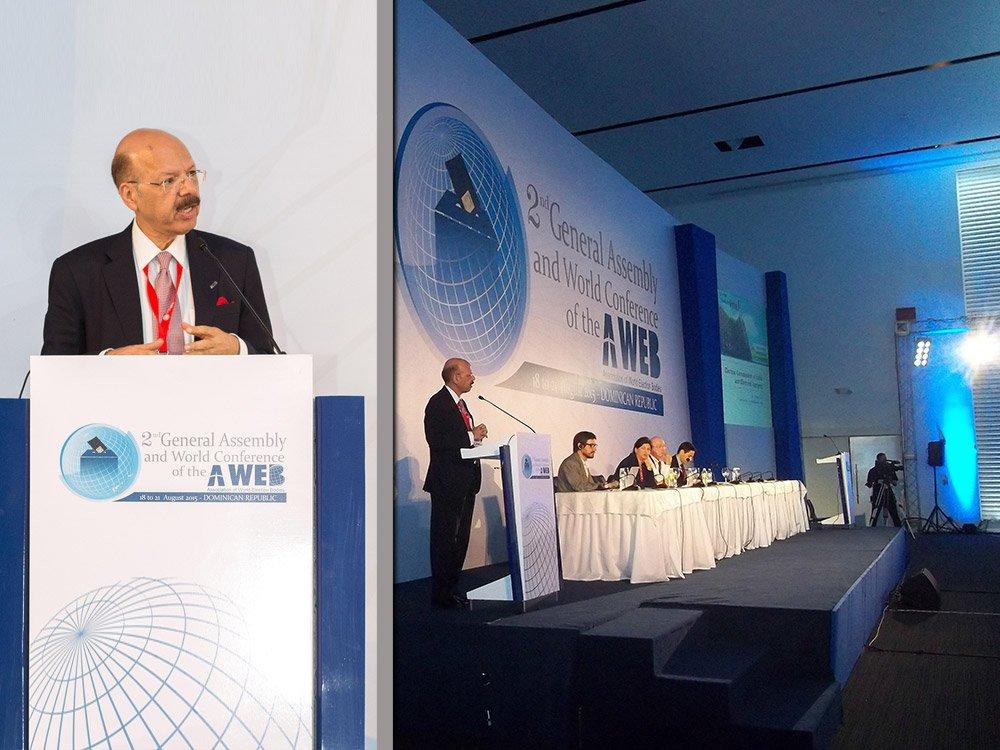 Dr. Nasim Zaidi, CEC addressing A-WEB world Conference