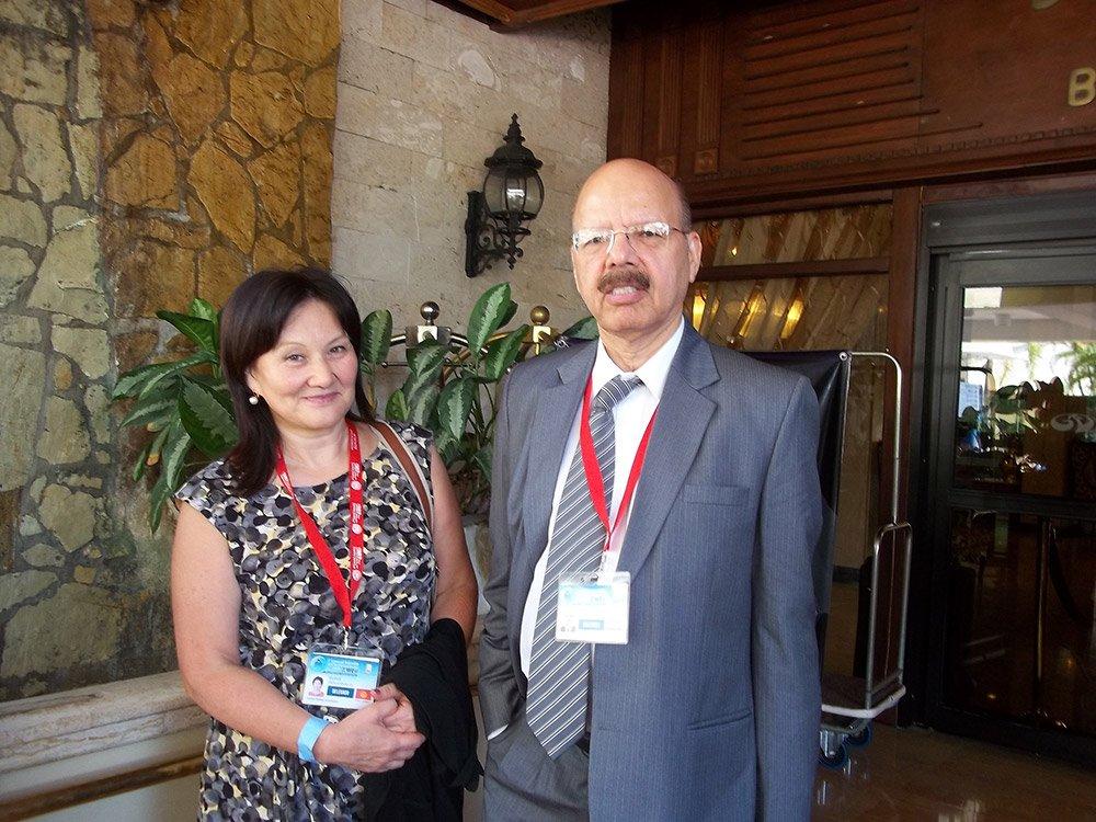 Dr. Nasim Zaidi, CEC  with Commissioner of Kyrgyz Republic