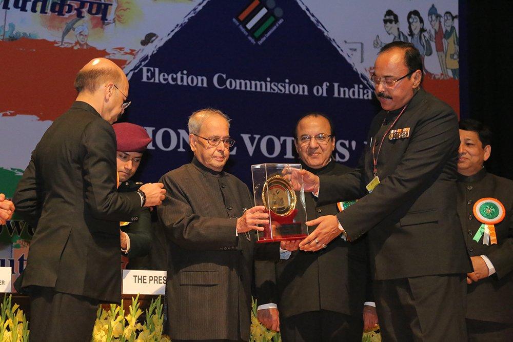 Hon'ble President of India Shri. Pranab Mukherjee awards Shri S N Singh, IG Assam for Security Management (Special Category).