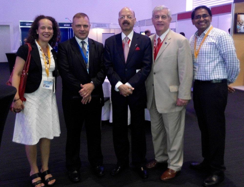IFES delegation led by its President Mr.Bill Sweeney meeting CEC, Dr. Nasim Zaidi