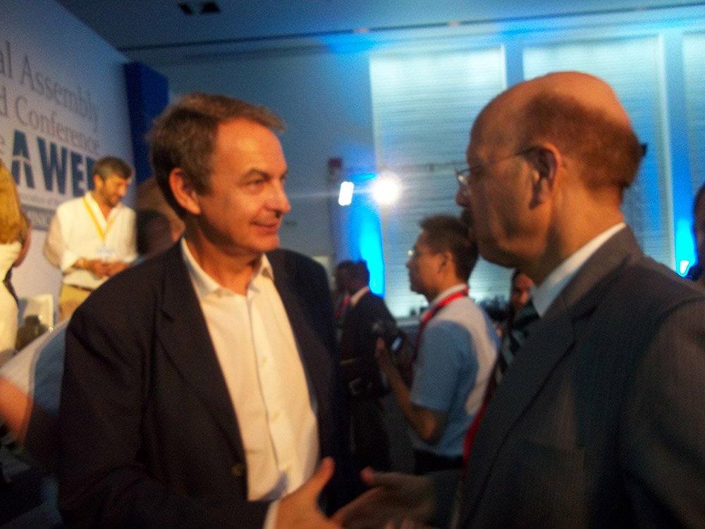 Dr. Nasim Zaidi, CEC and Mr. Jose Luis Rodriguez Zapatero, former president of Spain