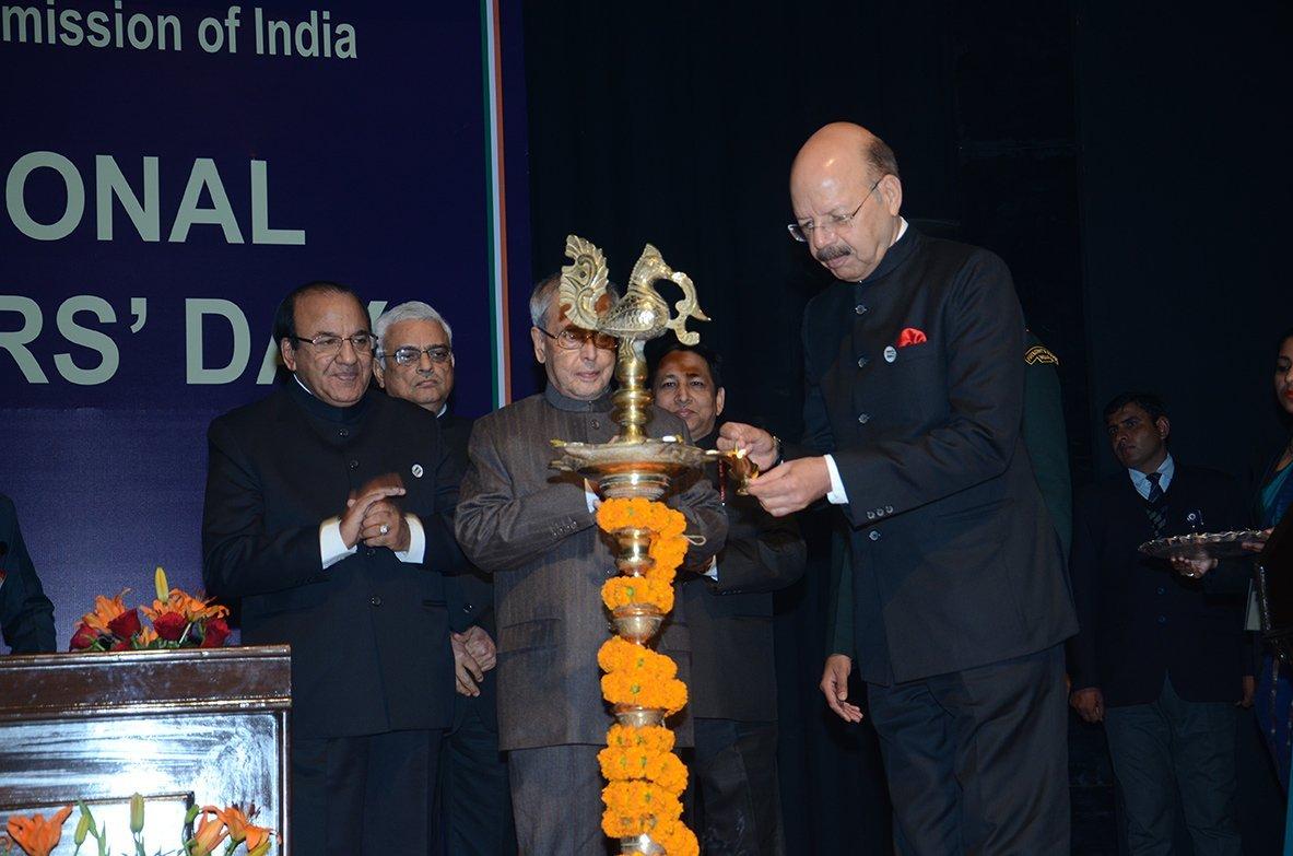 Lighting of Lamp by then CEC, Dr. Nasim Zaidi