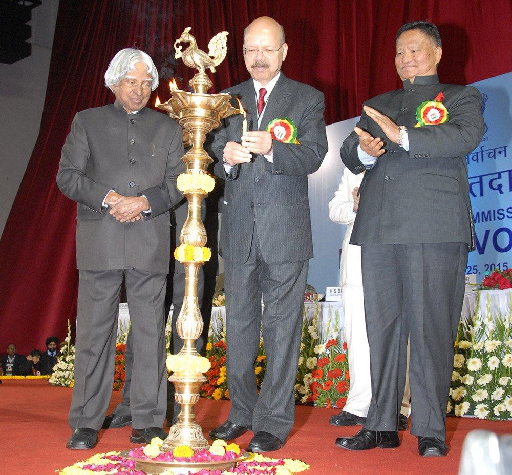 Lighting of Lamp by then EC, Dr. Nasim Zaidi