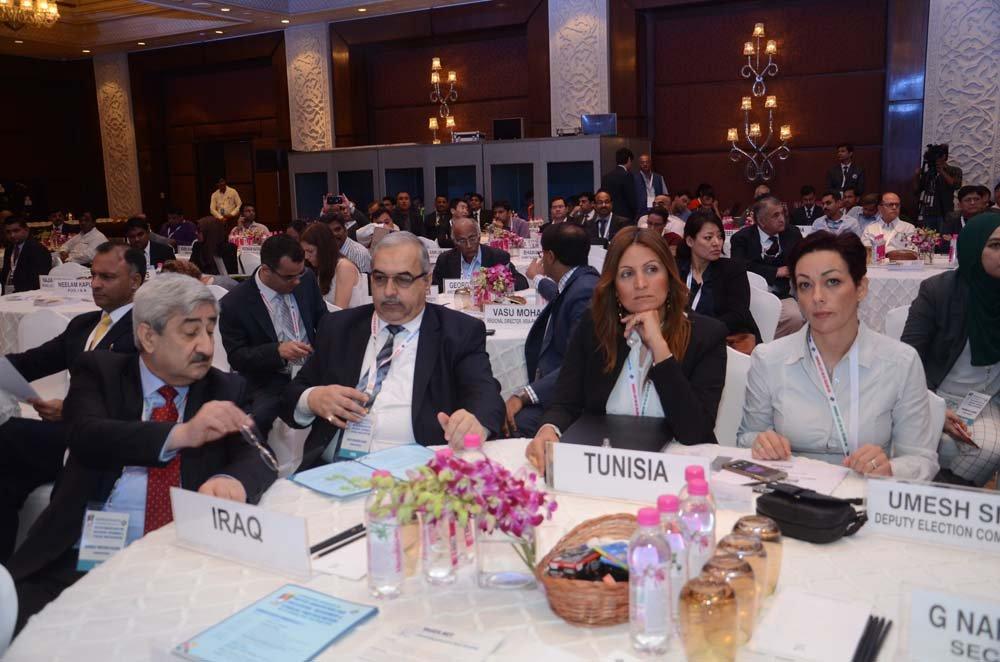 (Left to Right) Mr. Sarbast Mustafa Rashid (Chairman, Independent High Electoral Commission of Iraq), Mr. Safaa Ibraheem Jasim (Commissar, Independent High Electoral Commission of Iraq), Ms. khameyel fenniche
