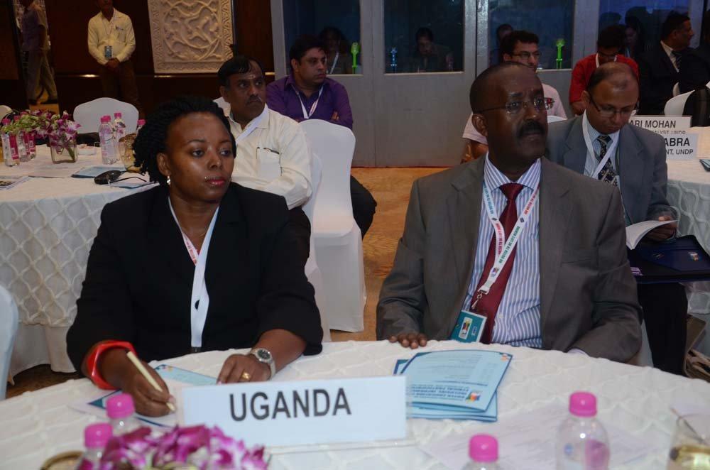 Ms. Peninah Komuhendo Sekabembe (Principle Election Officer, Electoral Commission of Uganda) and Mr. Sam Asiimwe Rwakoojo (Executive Secretary , Electoral Commission of Uganda)