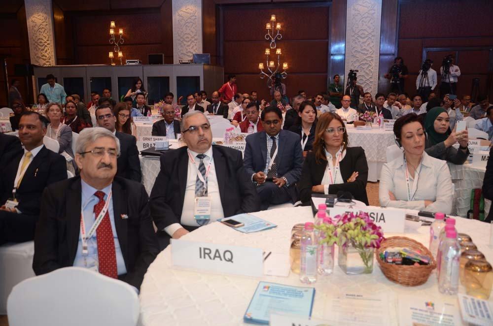 (Left to Right) Mr. Sarbast Mustafa Rashid (Chairman, Independent High Electoral Commission of Iraq), Mr. Safaa Ibraheem Jasim (Commissar, Independent High Electoral Commission of Iraq), Ms. khameyel fenniche (Commissioner, High Independent EC Tunisia)