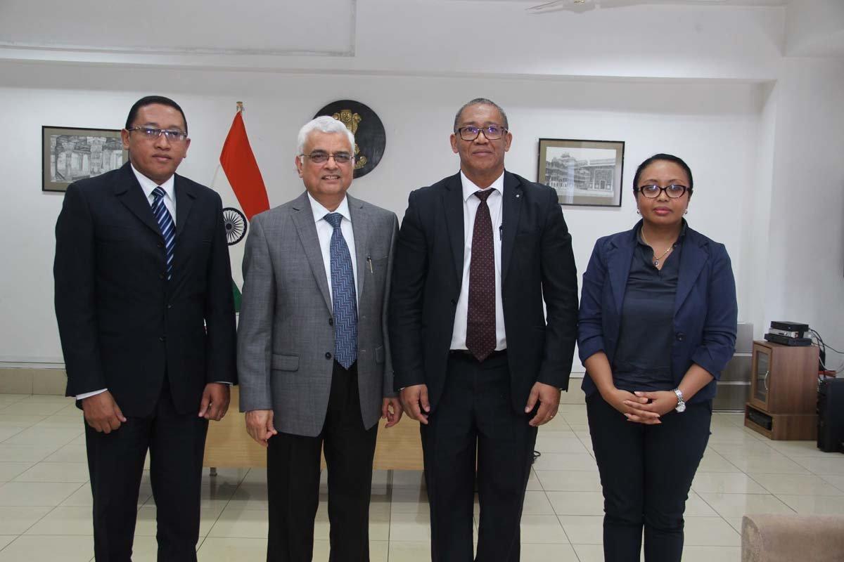 Mr. Rakotomanana Yves Herinirina Raoel, President of CENI Madagascar visited the Election Commission of India on 9th March, 2018