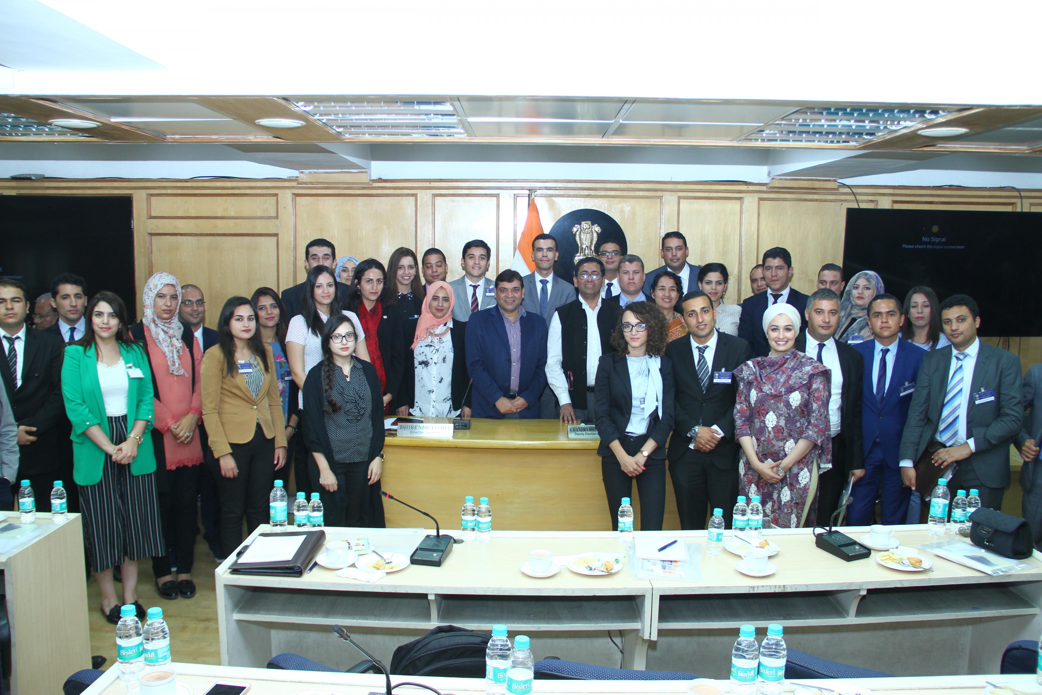 5 नवंबर, 2018 को 25 ट्यूनीशियाई राजनयिकों का भारत निर्वाचन आयोग का दौरा