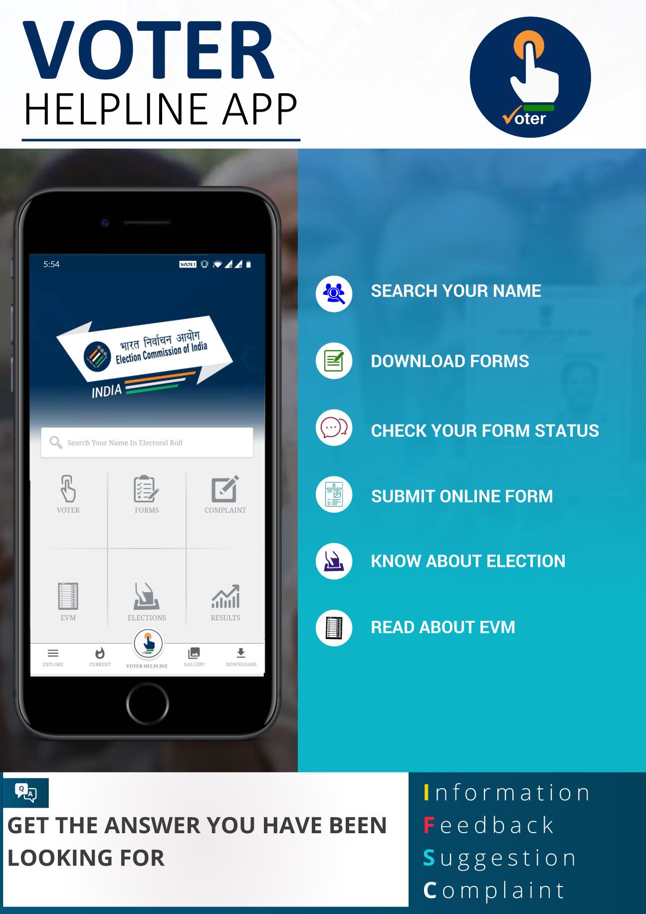 Voter Helpline App from Google Play store