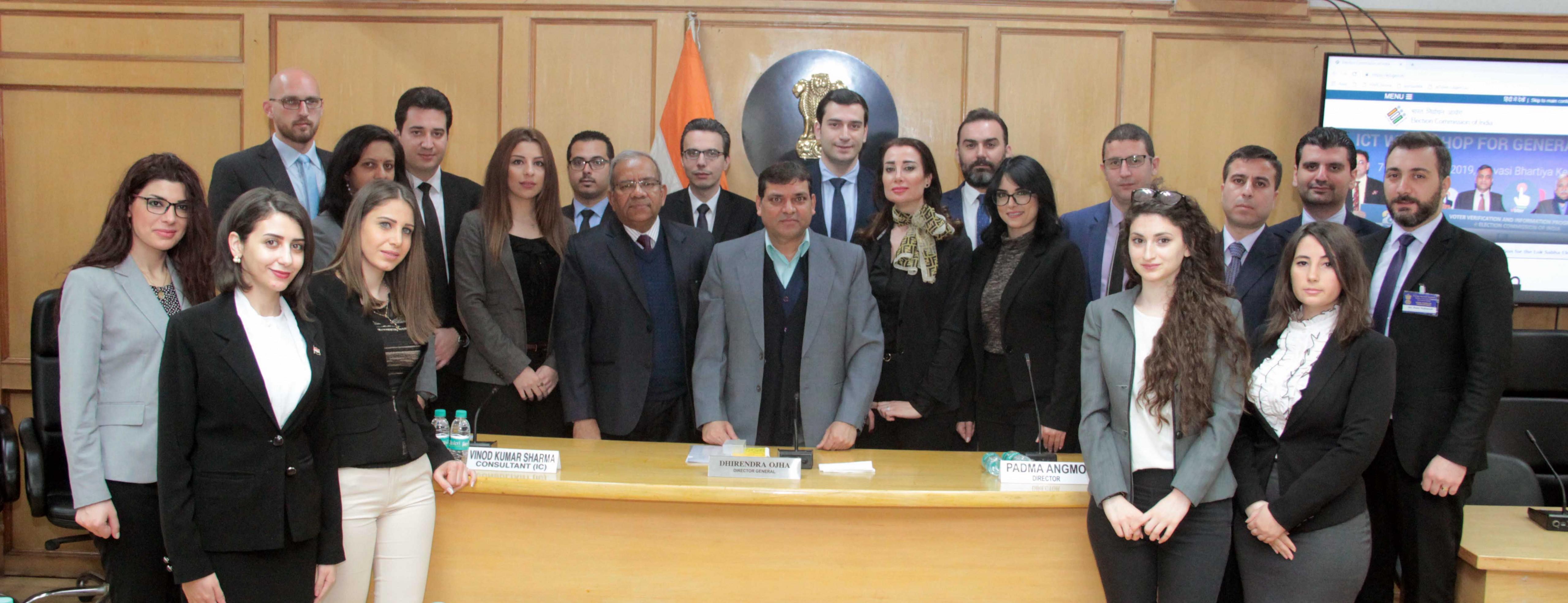 11 फरवरी, 2019 को 45 सीरियाई राजनयिकों का भारत निर्वाचन आयोग का दौरा