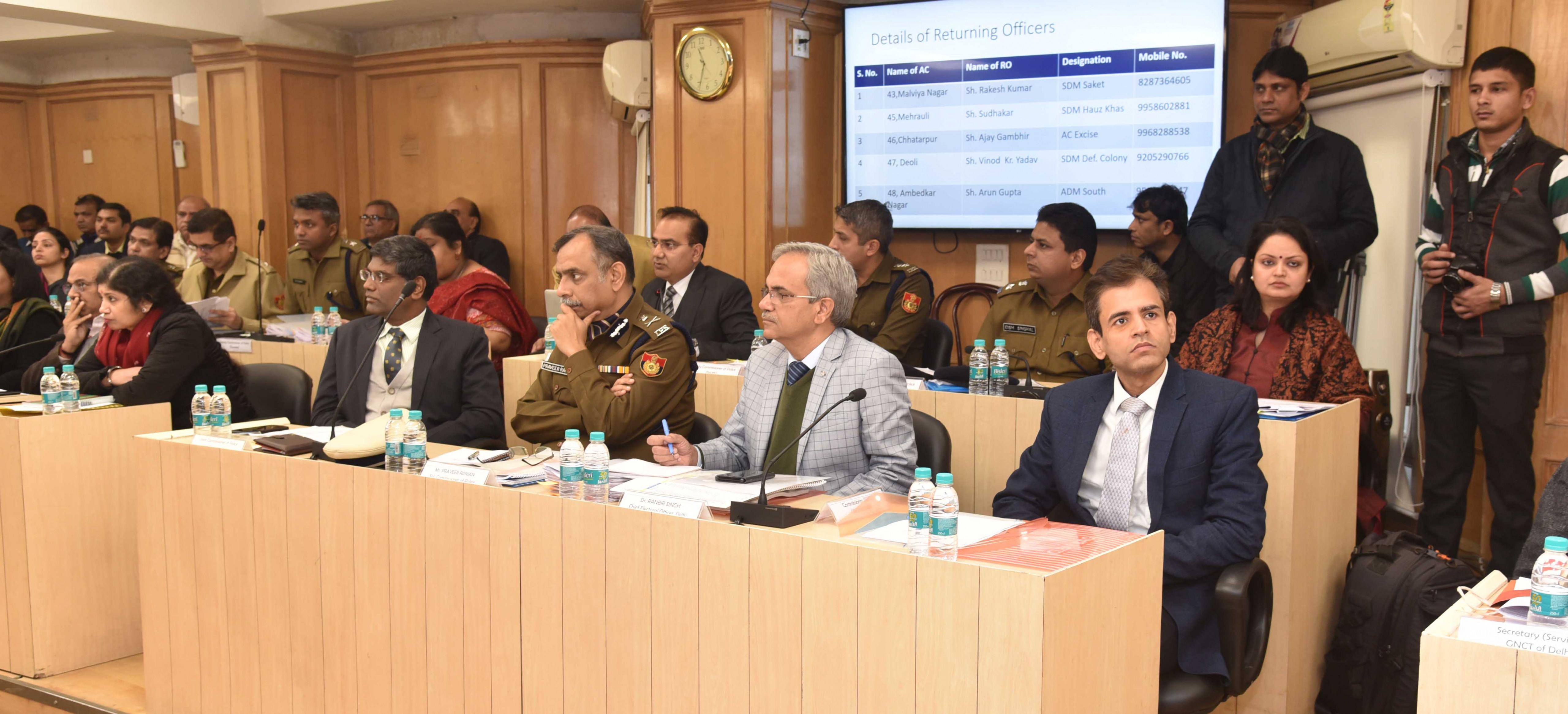 ECI REVIEWS POLL PREPAREDNESS FOR DELHI LEGISLATIVE ASSEMBLY ELECTION 2020